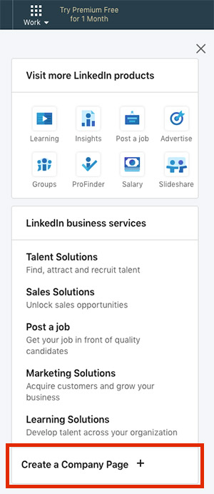 create company page