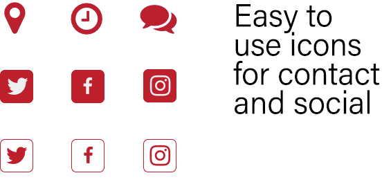 Easy to use icons.